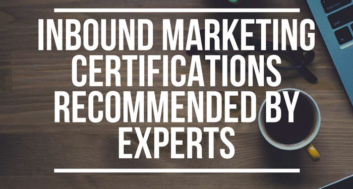 Inbound marketing certifications