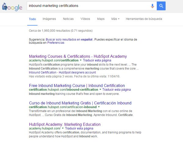Inbound Marketing Certifications Search