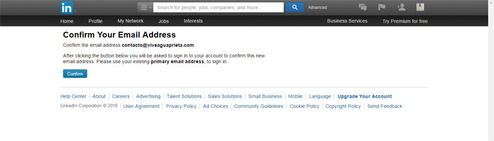Linkedin Business Account Step 6