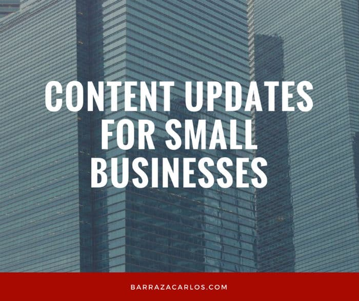 Content updates for small business
