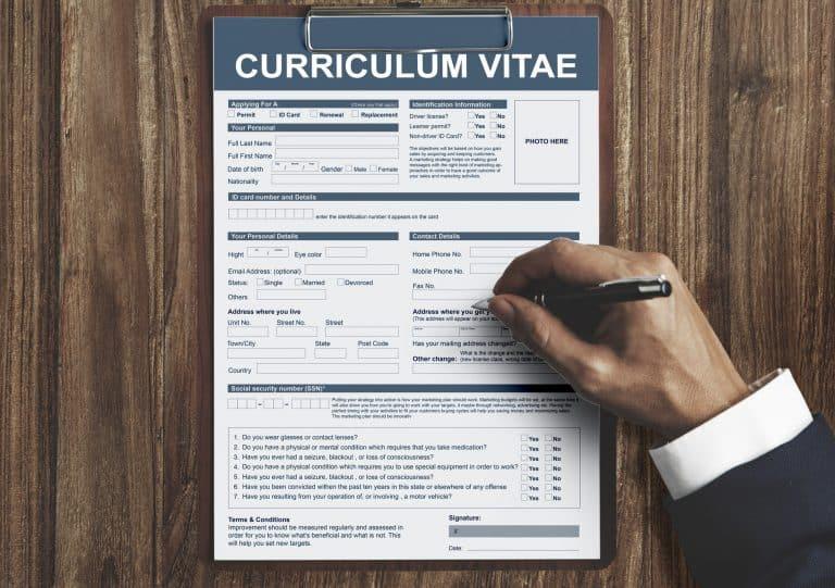 Curriculum Vitae Concept de demande d'emploi