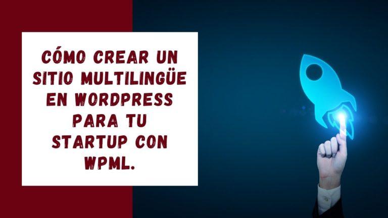 Sitio web multilingüe de WordPress para una startup