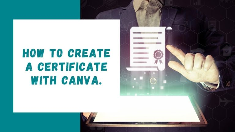 How to create a certificate with Canva