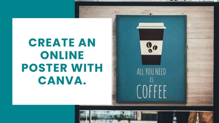 create an Online poster with canva