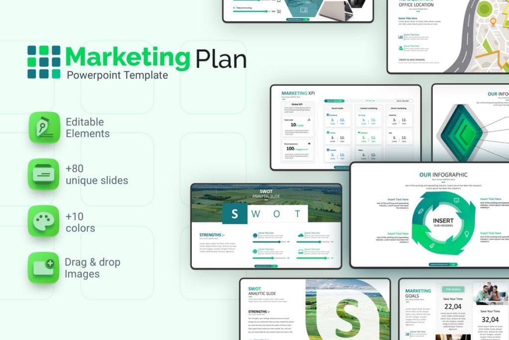 Plantilla de análisis FODA de marketing