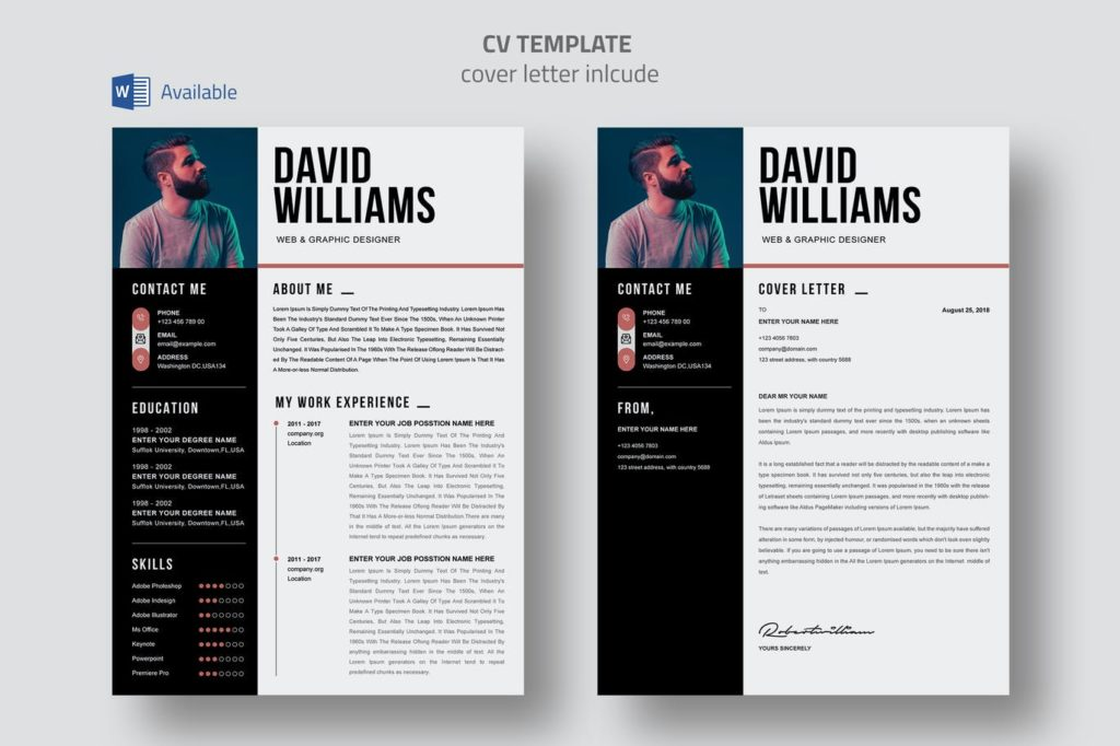 Resume Example Envato Elements 2