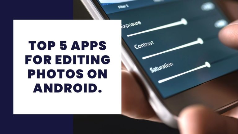 apps for editing photos on Android