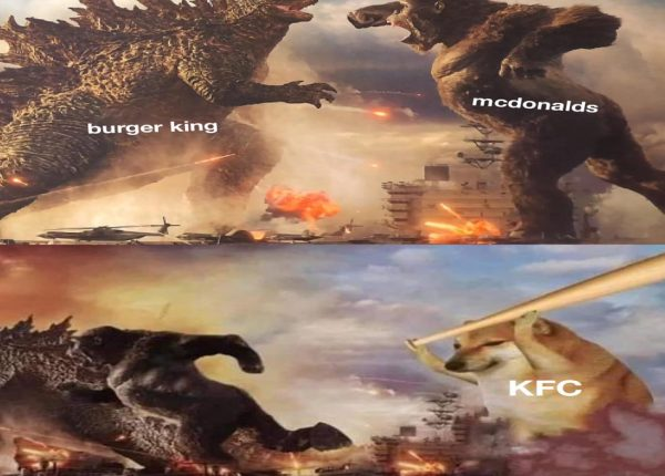godzilla kong meme mcdonalds burger king kfc